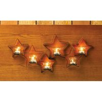 Beautiful Iron Cutout Star Wall Sconce