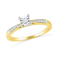 0.10 Cttw, Diamond Ring in 10K Yellow Gold