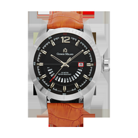 MONTE - Men%27s Giorgio Milano Stainless steel with genuine brown leather straps