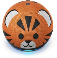 Amazon - Echo Dot (4th Gen) Kids Edition Designed for kids, with parental controls - Tiger