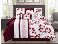 Classic Floral Pattern Comforter Set - Queen