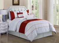 Spice and White Comforter Set - King