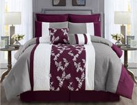 Elegant Purple/White Comforter Set
