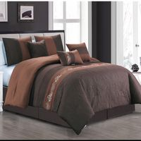 Elegant Coffee Comforter Set