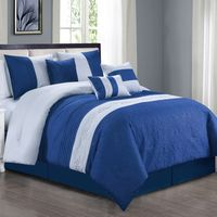 Elegant Navy/White Comforter Set