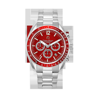 219 - Men%27s Giorgio Milano Stainless Steel with Red Dial