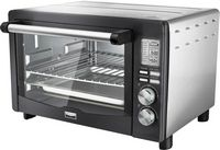 Bella - Pro Series 6-Slice Toaster Oven - Black Stainless Steel