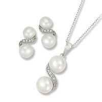 S-Shape Fresh Water Pearl Set