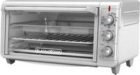 Black & Decker - 8-Slice Air Fryer Toaster Oven - Stainless Steel