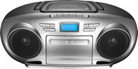 Insignia™ - AM/FM Radio Portable CD Boombox with Bluetooth
