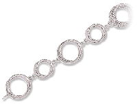 Circle Design Bracelet with Diamond Accent