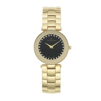MIMA - Women%27s Giorgio Milano Stainless Steel with Gold Tone and Black Dial