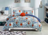 Basketball Comforter Set - Twin