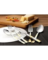 20 Piece 18/10 Flatware Set-Amanda Gold Finish