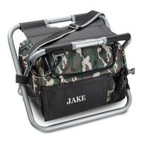 Personalized Cooler Chair - Camo - Sit N%27 Sip