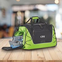 Personalized Duffle and Gym Bag - Weekend Bag -Green