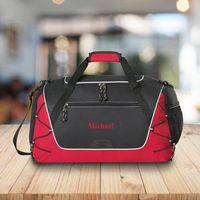 Personalized Duffle and Gym Bag - Weekend Bag - Red
