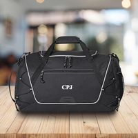 Personalized Duffle and Gym Bag - Weekend Bag - Black