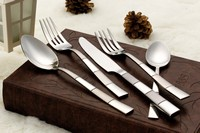 20 Piece 18/10 Flatware Set-Amanda Silver Finish
