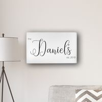 "Personalized Last Name Modern Farmhouse 14%27 x 24"" Canvas"