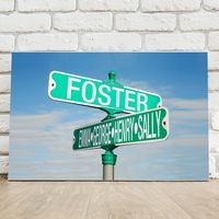 Street/ Family Name Sign Canvas