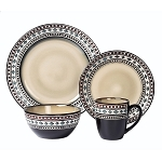 16 Piece Lorren Home Trends Neutral Dinnerware Set