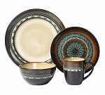 16 Piece Lorren Home Trends Mosaic Dinnerware Set